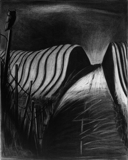 Katherine Nelson, Night Watch 2005, unframed - charcoal