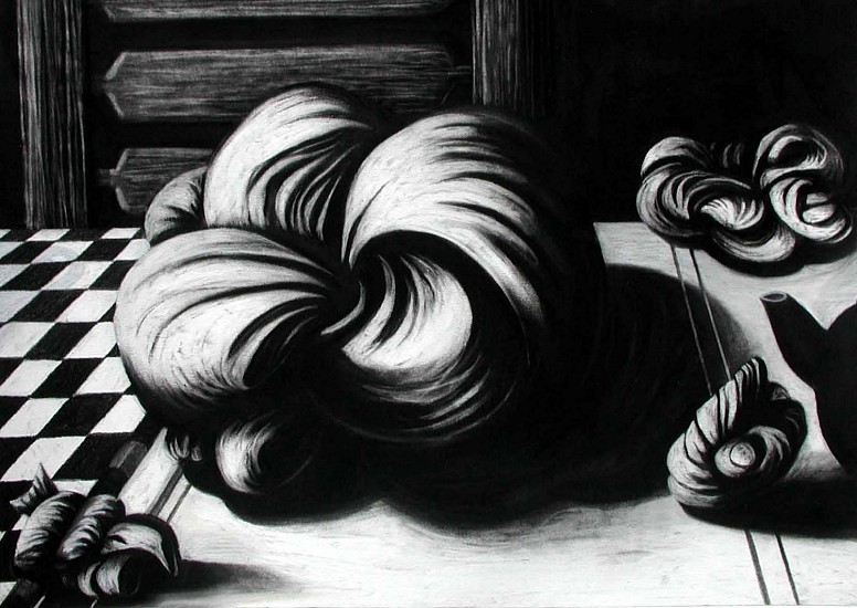 Katherine Nelson, Invitation to the Table 2005, charcoal on paper