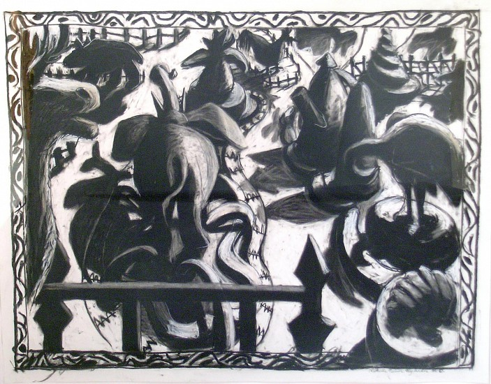 Katherine Nelson, Zoological Garden charcoal