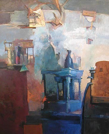 Robert Grimes, Blue Still Life 2003, oil on canvas