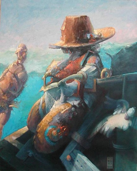 Robert Grimes, Pirates 1983, oil on canvas