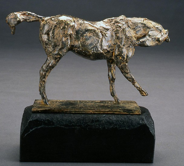 George Carlson, Horse I, Biting Shoulder 1997, bronze