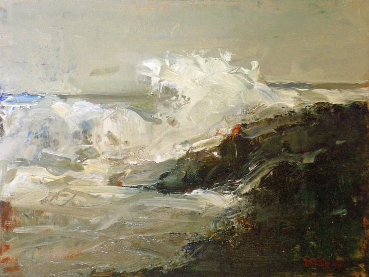 Don Ealy, Crashing Wave 2006, oil on canvas board
