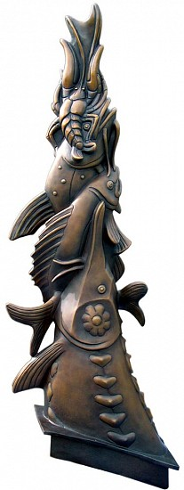 Wayne Chabre, Slough Fish Finial 2013, cast bronze