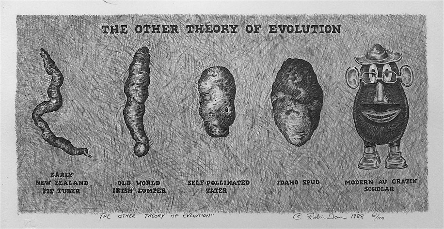 Robin Dare, The Other Theory of Evolution 1988, lithography edition litholgraph/print