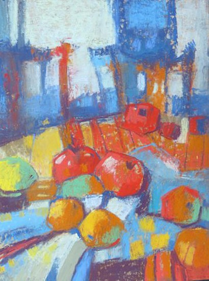 Kathy Gale, Moroccan Still Life #2 2013, soft pastel on gessoed panel