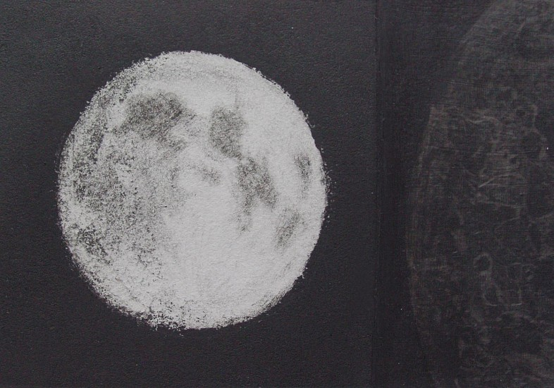 Elaine Green, Black Moon 2013, mezzo tint, silverpoint and wax