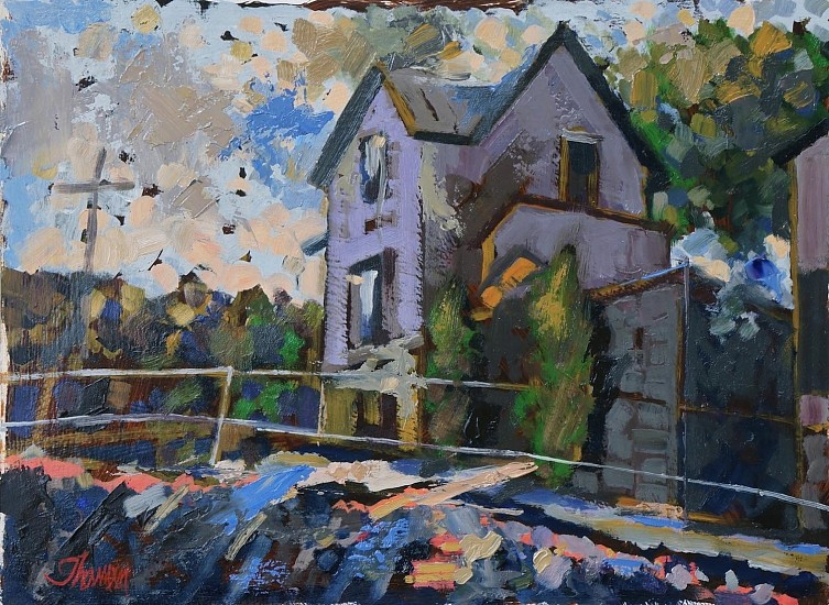 John Thamm, Ken's House Peaceful Valley 2013, oil