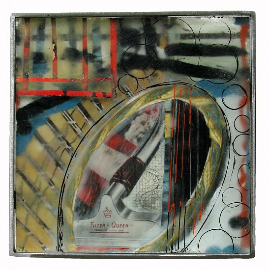 Michael Horswill, Filter Queen 2014, glass, steel, paper, encaustic
