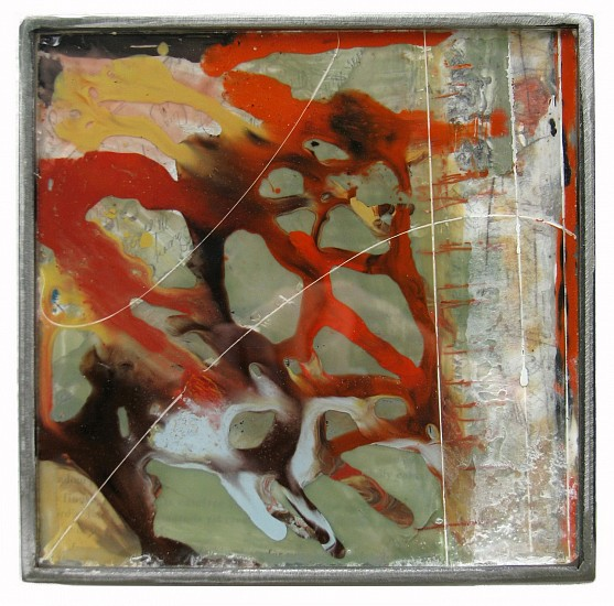 Michael Horswill, Expansive 2014, glass, steel, paper, encaustic