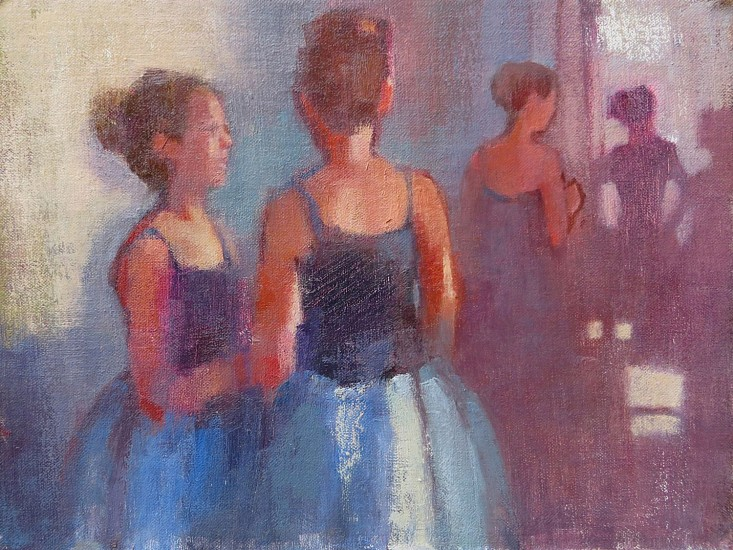 Kathy Gale, Backstage Review 2015, Oil on linen board