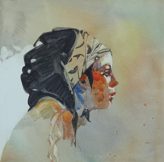 Carla O'Connor, Free Spirit 2014, watercolor & gouache