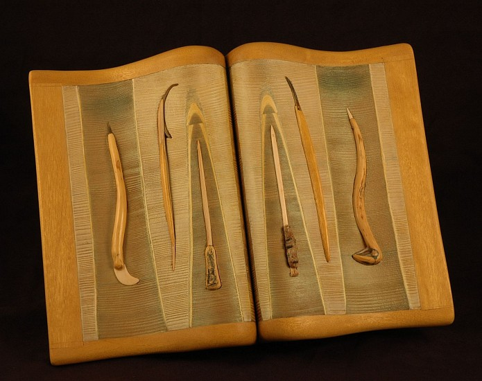 Morse Clary, Tool Set 2013, Limba, cedar, oregon grape, shell bark, thorn, bone pigment