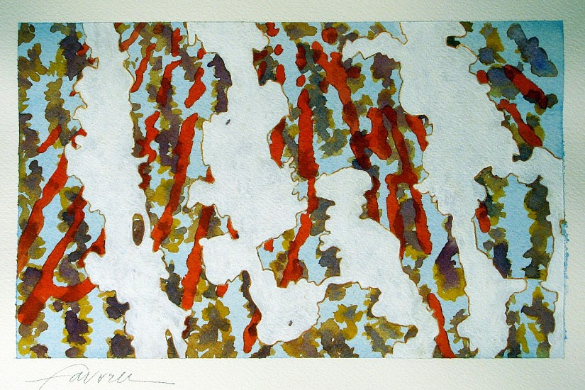 Mary Farrell, Derma Landscape 4 2014, watercolor