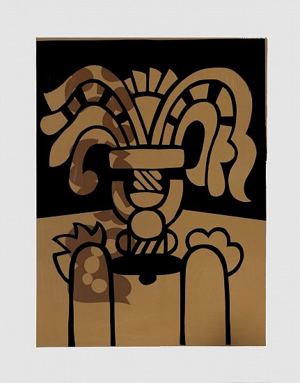 Harold Balazs, Vase with Wilted Flowers silk screen print on paper