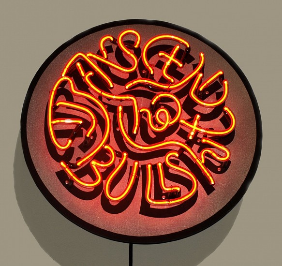 Harold Balazs, Limited Edition Neon Sign-Transcend the Bullshit 2015, neon, transformer and metal