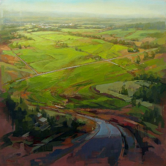 Victoria Brace, Spring on Peone Prairie 2015, oil on canvas