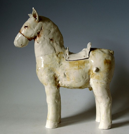 Cary Weigand, Yellow Horse 2016, porcelain, stain, acrylic, oil