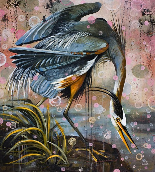 Catherine Earle, Inspiration - homage to John J. Audubon 2015, acrylic on canvas