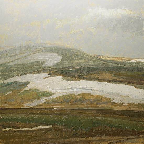 George Carlson, Approaching Spring Storm 2008, oil on linen