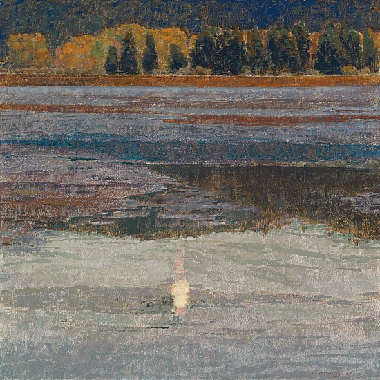 George Carlson, Quite Evening on the Marsh 2008, oil on linen