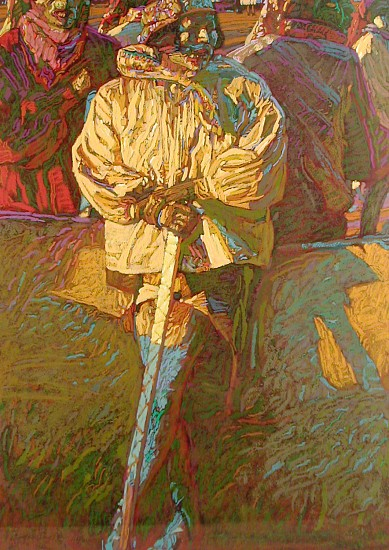George Carlson, The Sword 1992, serigraph -121 colors