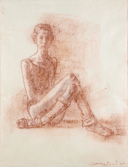 George Carlson, The Young Dancer 2007, conte on rice paper