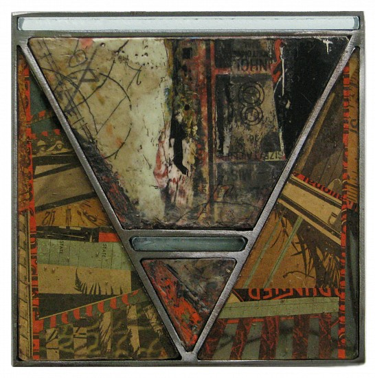 Michael Horswill, Mastaba 2016, steel, wood, encaustic, paper, glass