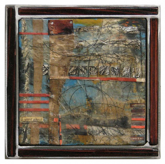 Michael Horswill, A Word About... 2016, steel, wood, encaustic, paper