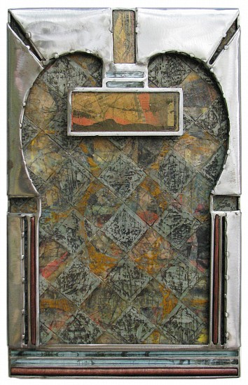 Michael Horswill, Clerestory 2016, steel, encaustic, glass, paper