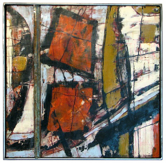 Michael Horswill, From the Window 2012, steel, enamel, wood and encaustic