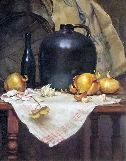 Del Gish, Jug with Onions 2017, oil