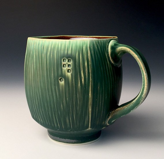 Nick DeVries, Dark Green Mug 1 2017, ceramic