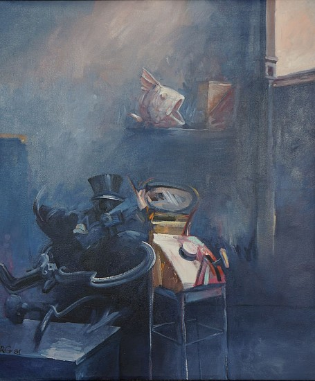Robert Grimes, Thief's Witness 1981, oil on canvas