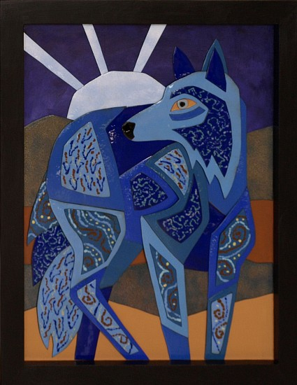 Mary Dee Dodge, Blue Wolf 2014, enamel on copper