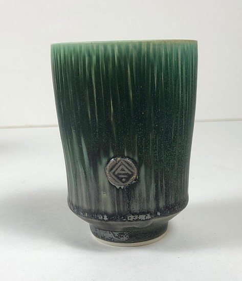 Nick DeVries, Dark Green Yunomi 2018, ceramic
