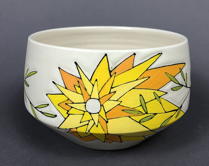 Maya Rumsey, Sunny Tree Bowl 2019, porcelain and underglaze
