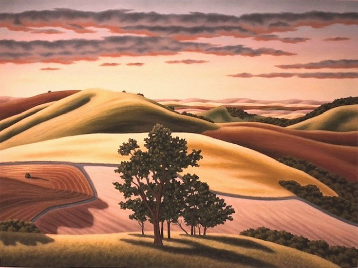 Doug Martindale, Last Light on the Palouse chalk pastel on archival paper