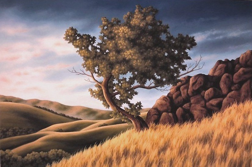 Doug Martindale, Lone Tree In Rocky Valley Giclee print on archival paper