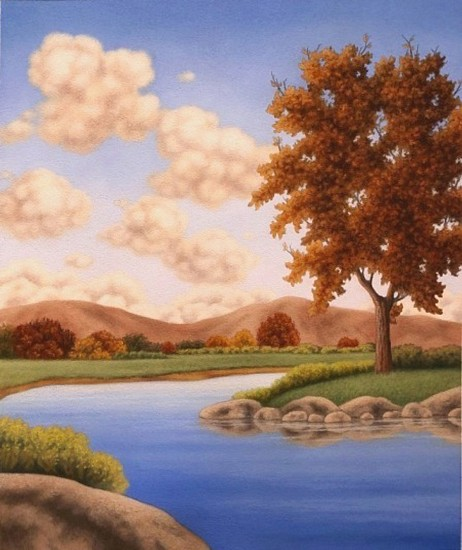 Doug Martindale, Reflections of Autumn chalk pastel on archival paper