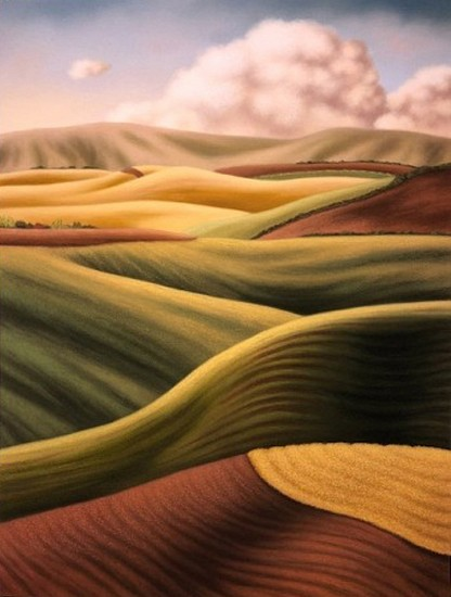 Doug Martindale, Shades of the Palouse chalk pastel on archival paper