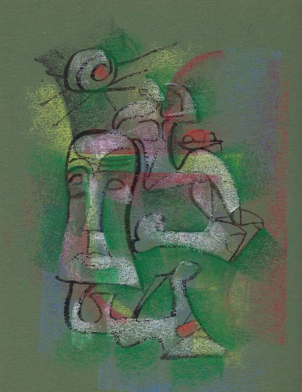 Ernest Lothar, Drawing 38 pastel on construction paper