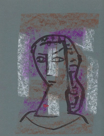 Ernest Lothar, Drawing 52 pastel on construction paper