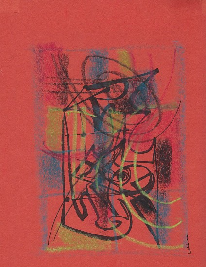 Ernest Lothar, Drawing 60 pastel on construction paper