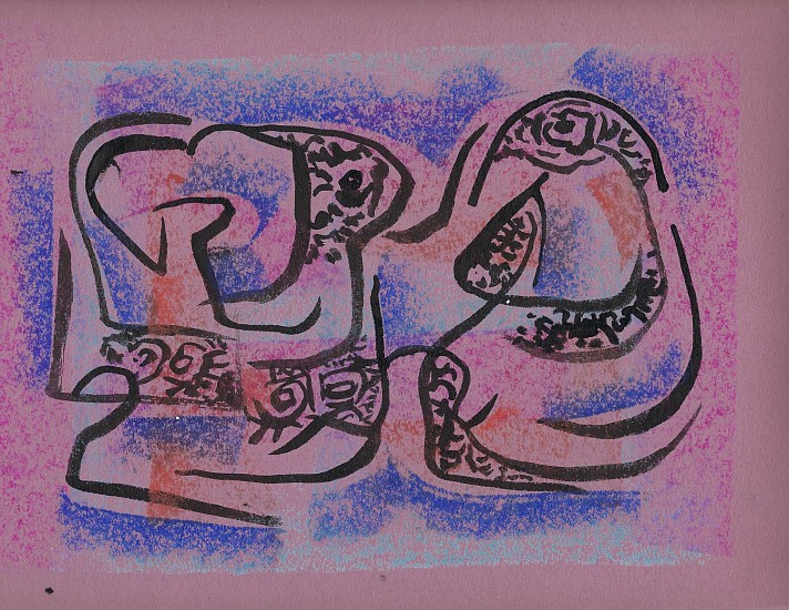 Ernest Lothar, Drawing 98 pastel on construction paper