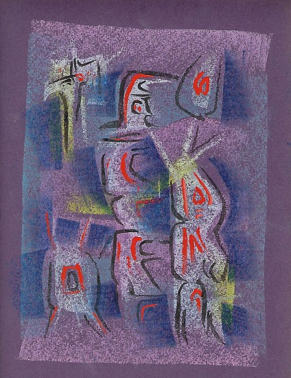 Ernest Lothar, Drawing 105 pastel on construction paper