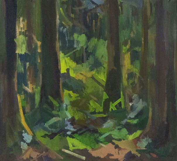 Kimberly Trowbridge, Oakridge Forest 2016, oil on canvas