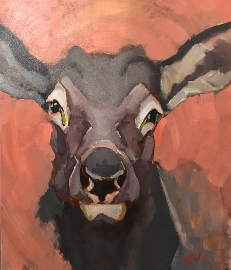 Jeff Weir, Snobby Cow 2018, oil on canvas