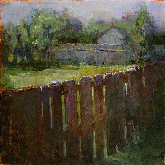 Victoria Brace, Backyard 2011, oil on canvas