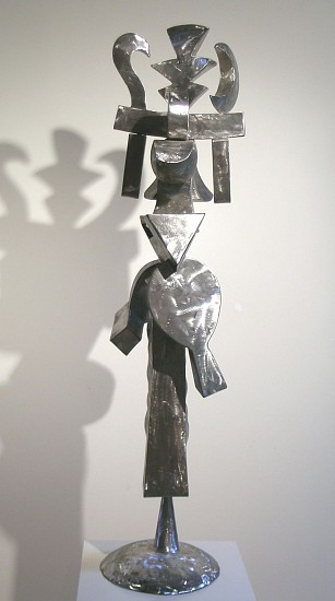 Harold Balazs, My Fancy Hat 2002, stainless steel